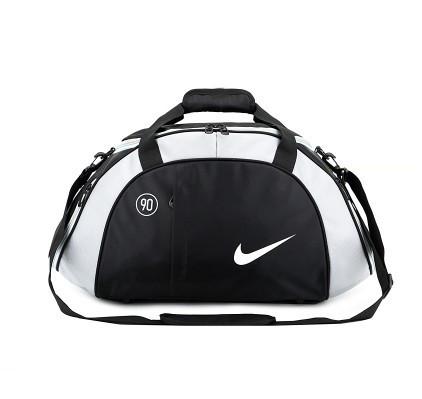 Спортивная сумка Nike черная с серым (реплика)