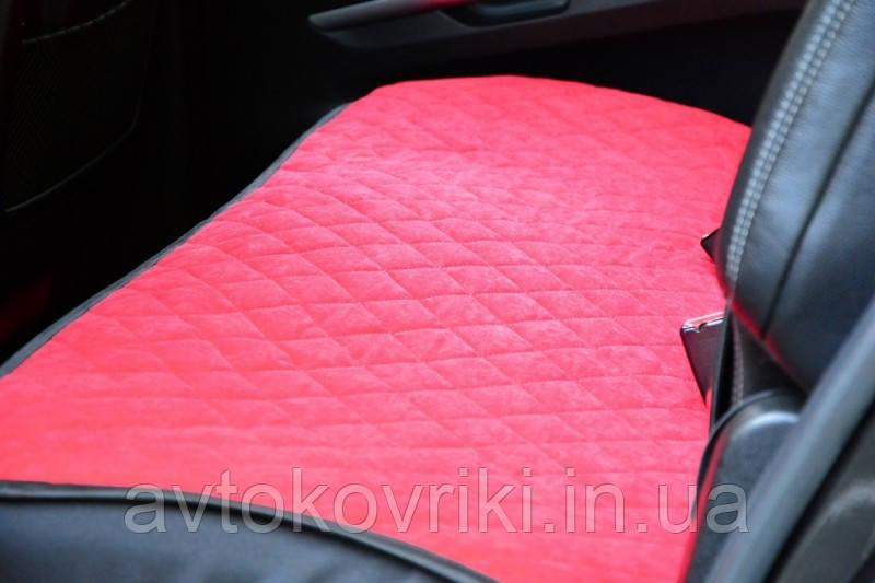Чехлы на сиденья красные. Задний комплект. Авточехлы - фото 4