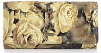 Стильный лаковый женский кожаный кошелек высокого качества H.VERDE art. 2551-D82 бледные розы, фото 1