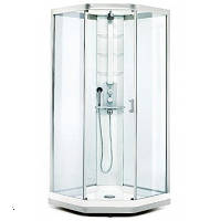 Душевая кабина 90х90 см, прозрачное стекло, серебристый профиль Showerama 9- 5 - Ido (Идо) 48750-32-909