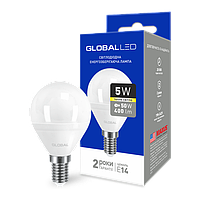 GLOBAL 5W мягкий свет G45 E14