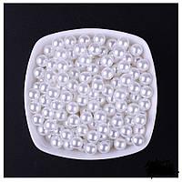 Бусины Жемчужные 10 мм Белые Упаковка 50 гр/100 шт, фото 1