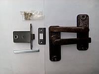 Дверная защелка ЗЩ-1 с ручкой медь