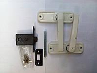 Дверная защелка ЗЩ-1 с ручкой белой