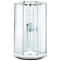 Душевая кабина 100х100 см, прозрачное стекло, серебристый профиль Showerama 9-5 Ido (Идо) 48751-32-010