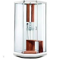 Душевая кабина 90х90 см, узорчатое стекло, серебристый профиль Showerama 9- 5 Ido (Идо) 48750-31-909