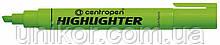 """Маркер текстовий 1-4.6 мм., корпус цілий, """"Highlighter"""", зелений. CENTROPEN"""