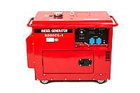 Генератор дизельный WEIMA WM 5000 CLE-1 SILENT DIESEL (5 кВт, 1фаза, электростартер, шумоизоляция)