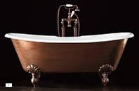 Чугунная ванна без отверстия с отделкой под медь 182x81 см ножки состаренная медь Devon & Devon (Девон и Девон) ADMIRAL COPPER EFFECT 2MRADMIRALVARDD