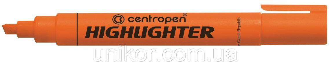 "Маркер текстовый 1-4.6 мм., корпус круглый, ""Highlighter"", оранжевый. CENTROPEN"