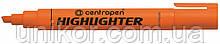 "Маркер текстовий 1-4.6 мм., корпус цілий, ""Highlighter"", помаранчевий. CENTROPEN"