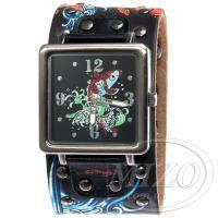 Часы на кожаном ремне в стиле Ed Hardy Fish