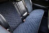 Чехлы на автомобильные сиденья AVторитет (задний комплект, черный). Авточехлы