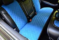 Чехлы на автомобильные сиденья AVторитет (задний комплект, синий). Авточехлы
