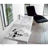 Умывальник-столешница с декором (магнолия) 100 см Laufen (Лауфен) LIVING CITY 8,18E+17