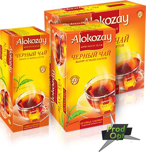 Чай Alokozay чорний, 50пакетів