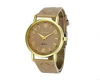 Женские часы бежевого цвета Geneva (190)