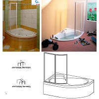 Шторка для ванны пластик RAVAK (РАВАК) VSK2 Rosa 2 L 170 -76LB010041