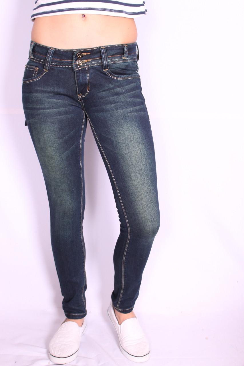 Женские джинсы на байке  (код EL 098) 25-30 размеры
