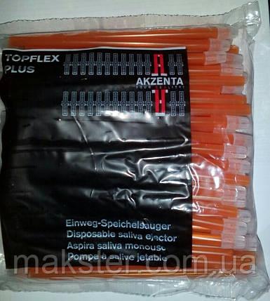 Слюноотсосы одноразовые AKZENTA, оранжевые, фото 2