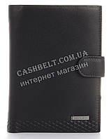 Прочный стильный бумажник портмоне из натуральной качественной кожи LOUI VEARNER art. LOU105-936A черный