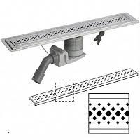 Душевой лоток из нержавеющей стали в комплекте с дизайн- решеткой ER1, 1200 мм Visign Viega (Виега) 619091