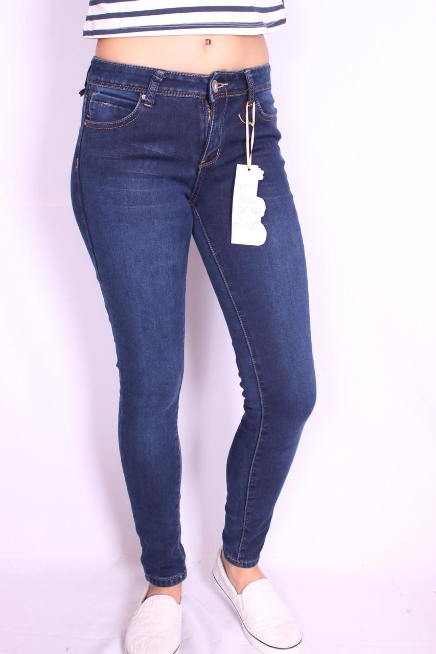 Теплые зимние женские джинсы M.Sara26-32рр. (код 3533)