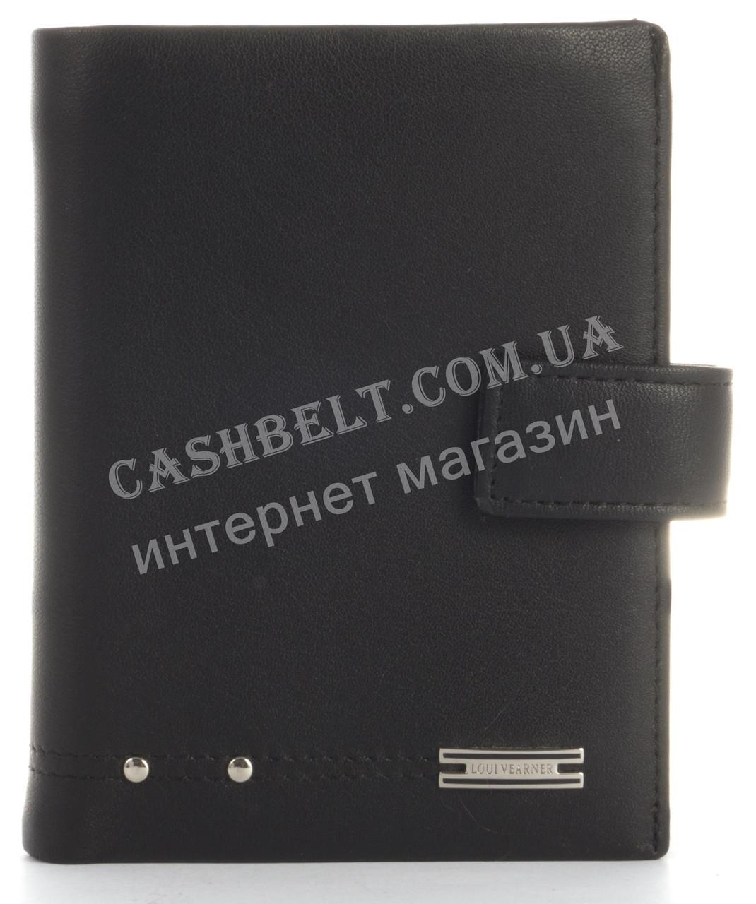 Прочный стильный кошелек из натуральной качественной кожи LOUI VEARNER art. LOU85-368A черный