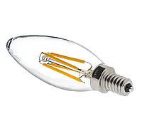 Лампа светодиодная LEDEX filament 4W, C35 E14 4000K