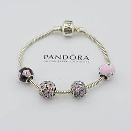 Серебряные браслеты и шармы Pandora (копия, пр-во Украина)