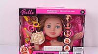 Кукла манекен для макияжа, причесок 4 вида + аксессуары, в коробке