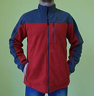 Мужская толстовка Timberland 132 серый с красным код 215в