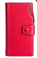 Красный стильный модный женский кожаный кошелек клатч  бумажник Baellerry