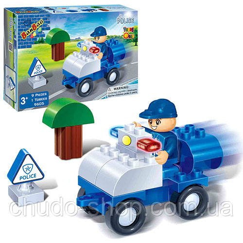 Конструктор BANBAO 9605 Полицейский транспорт