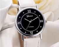 Женские часы с белым ремешком Geneva (202)