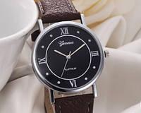 Женские часы с ремешком коричневого цвета Geneva (203)