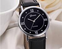 Женские часы черного цвета Geneva (193)
