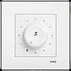 Выключатель аудио с трансформатором белый Karre Vi-KO