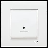 Выключатель проходной с подсветкой белый Karre Vi-KO