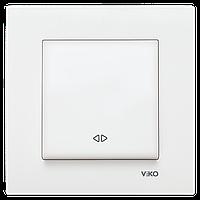 Выключатель реверсивный белый Karre Vi-KO