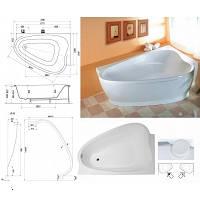 Угловая акриловая ванна левосторнняя RAVAK (РАВАК) LOVE STORY II PU Plus - C771000000