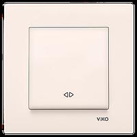 Выключатель реверсивный кремовый Karre Vi-KO