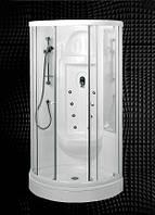 Полукруглая душевая кабина 100х100х208 см, профиль белый Balteco (Балтеко) Serena