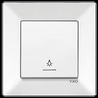 Кнопка контроля освещения с подсветкой белая Meridian Vi-KO