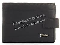 Прочный стильный бумажник портмоне из натуральной качественной кожи Frandiar art. FD83-056A черный