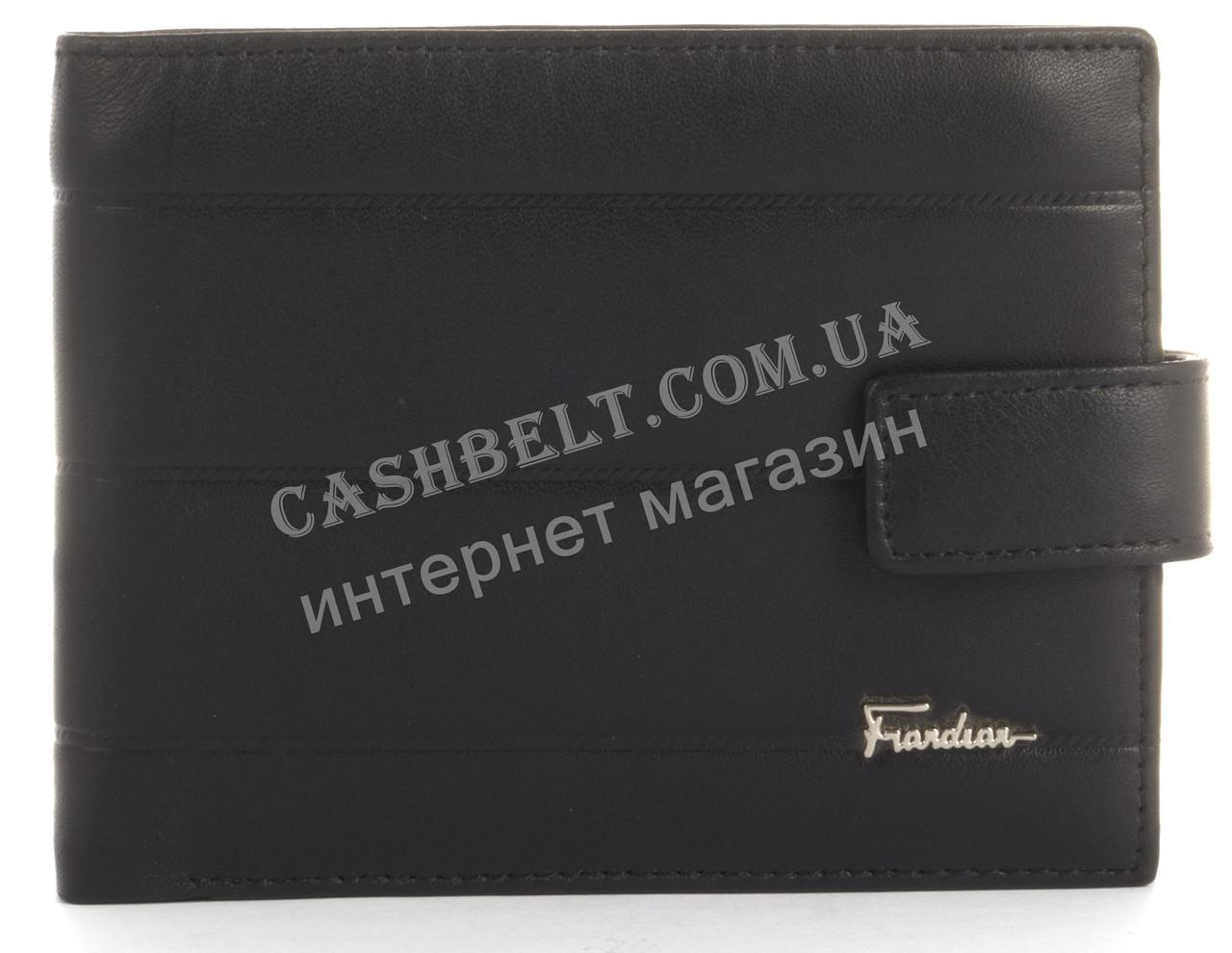 Прочный стильный бумажник кардхолдер из натуральной качественной кожи Frandiar art. FD83-356A черный