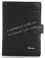 Прочный вместительный бумажник портмоне из натуральной качественной кожи Frandiar art. FD83-936A черный
