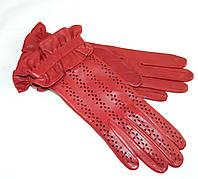 """Перчатки женские кожаные """"Alpa Gloves"""" красные без подкладки"""