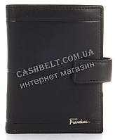 Прочный стильный бумажник портмоне из натуральной качественной кожи Frandiar art. FD83-368A черный