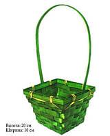 Корзина для цветов зеленая